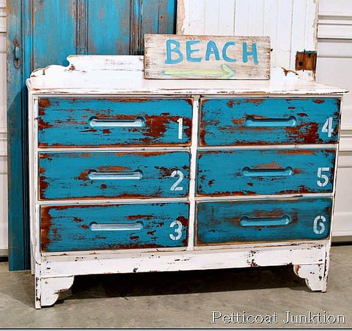 blue furniture beach inspired