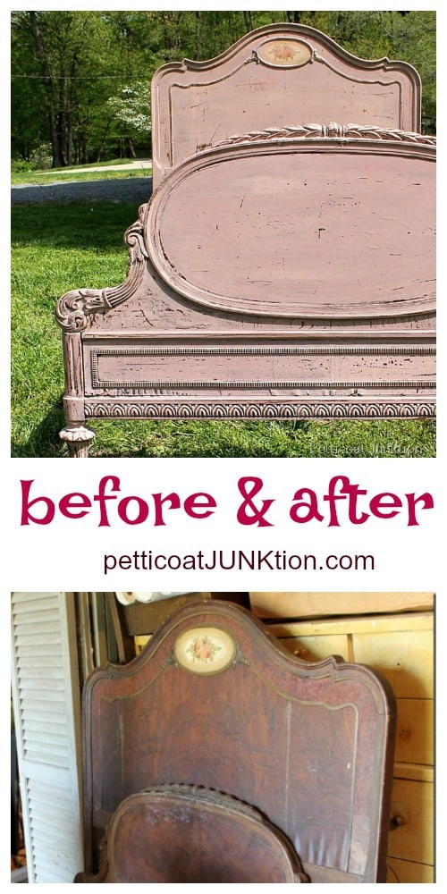 paint vintage furniture with Miss Mustard Seeds Milk Paint for a chippy paint finish