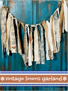 How to make a linen and cloth garland