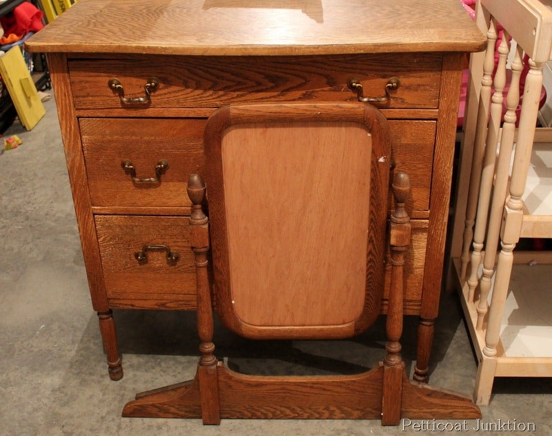 White Paint Oak Finish Furniture Before After Petticoat Junktion
