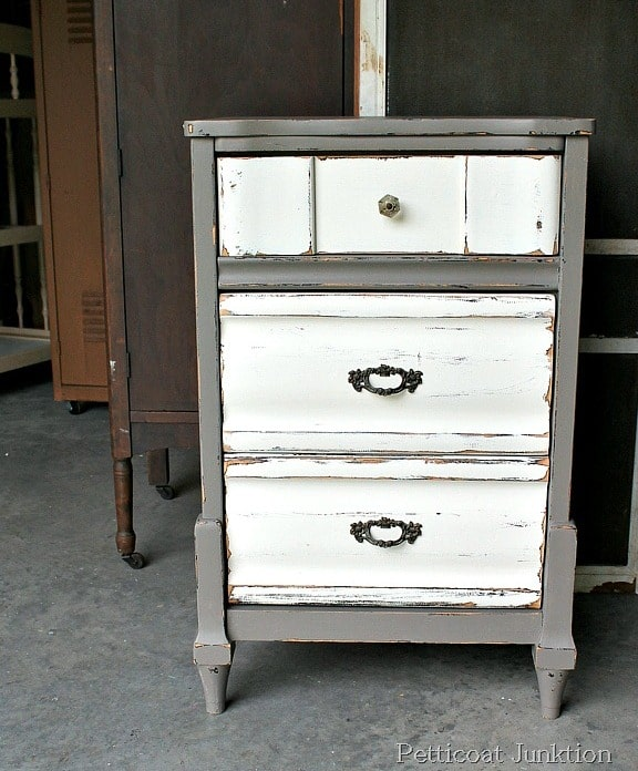 Superieur Two Tone Painted Furniture. Brilliant Furniture  Nightstandpaintmakeoverproject In Two Tone Painted Furniture U