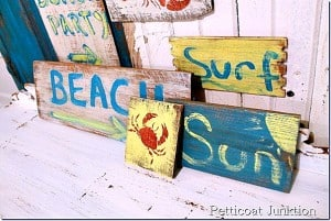 diy beach sign craft project