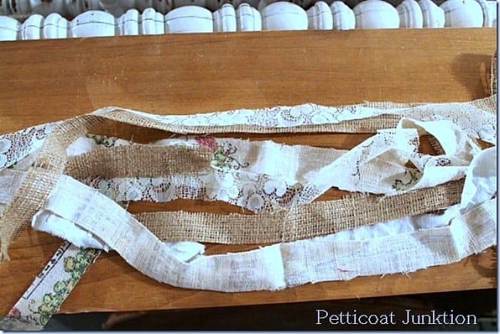 cut linen for garland
