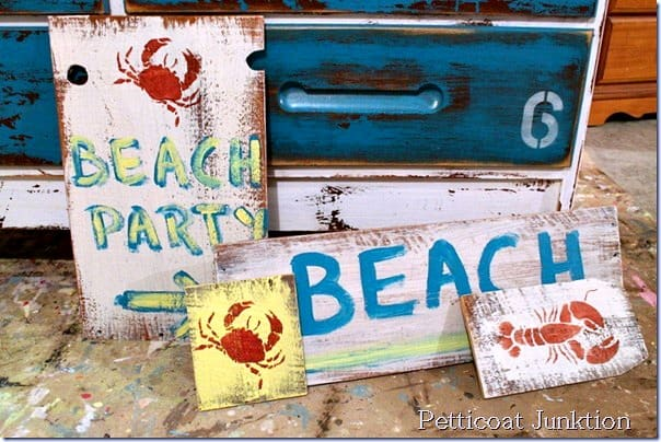 diy beach signs 1
