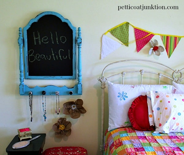 diy turquoise chalkboard by Petticoat Junktion