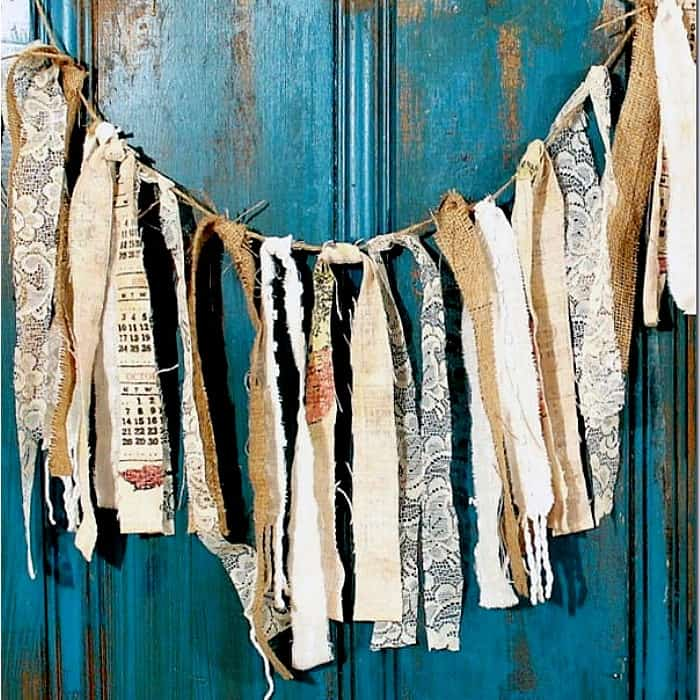 How To Make A Burlap And Vintage Linens Garland