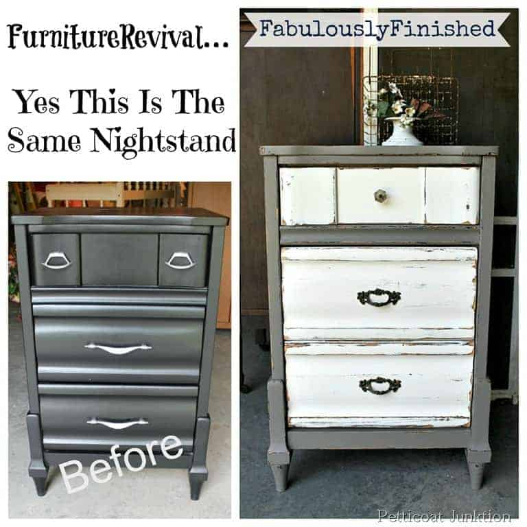Nightstand Paint Makeover Project Before After