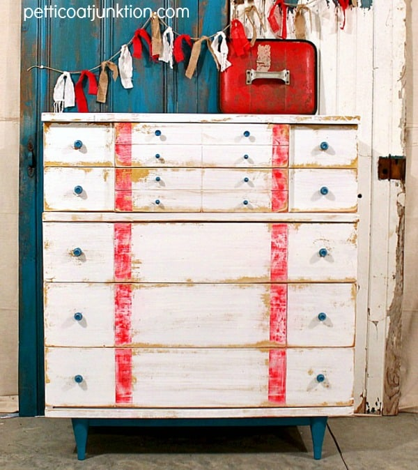 nautical theme chest by Petticoat Junktion