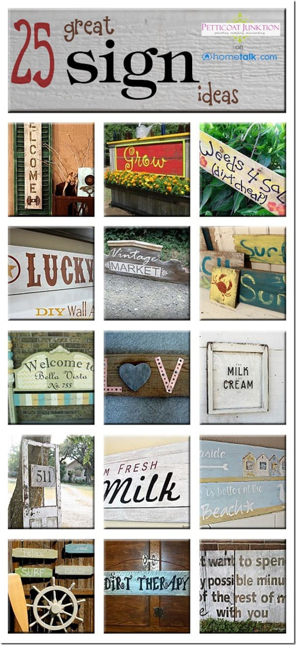 25 Great Sign Ideas from Hometalk, Petticoat JUnktion
