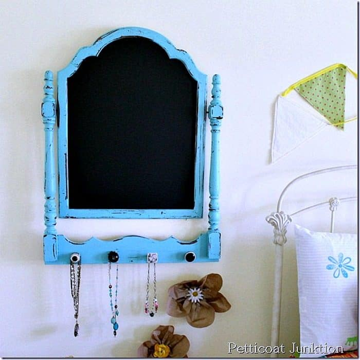turquoise chalkboard craft project Petticoat Junktion diy