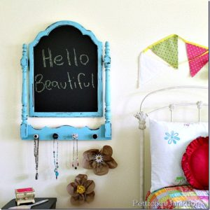 turquoise chalkboard diy Petticoat Junktion craft project