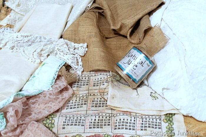 vintage linens garland