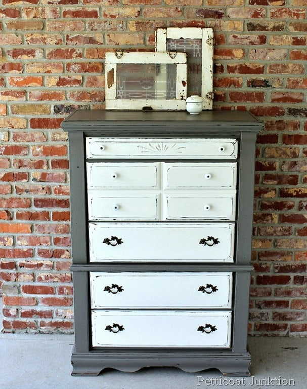 Furniture Makeover Two Tone Paint Finish
