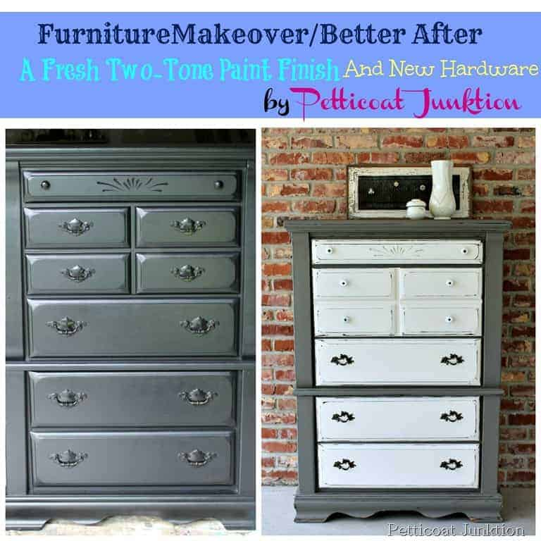 Furniture makeover before and after petticoat junktion for Before and after furniture makeovers