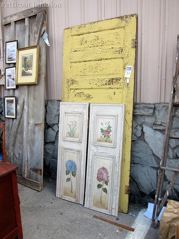 old doors at the Nashville Flea Market