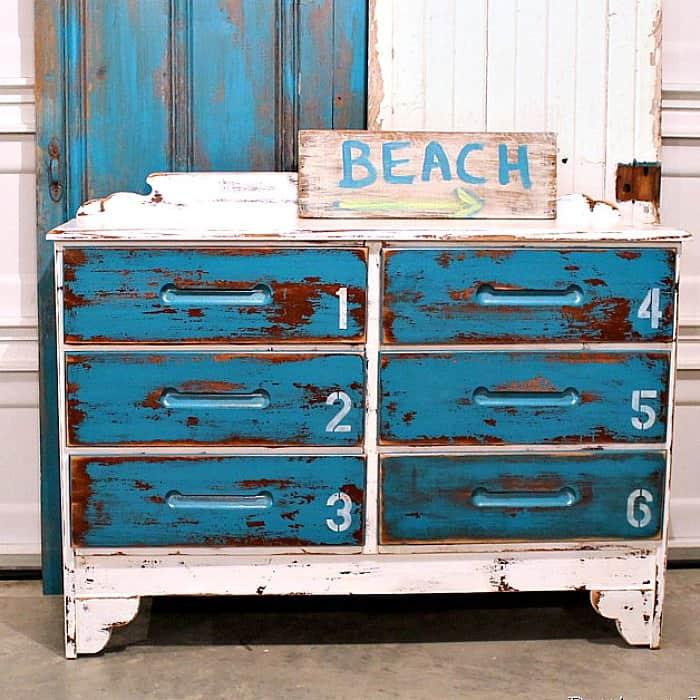 white beach furniture. Latex Paint For This Beach Inspired Dresser White Furniture E