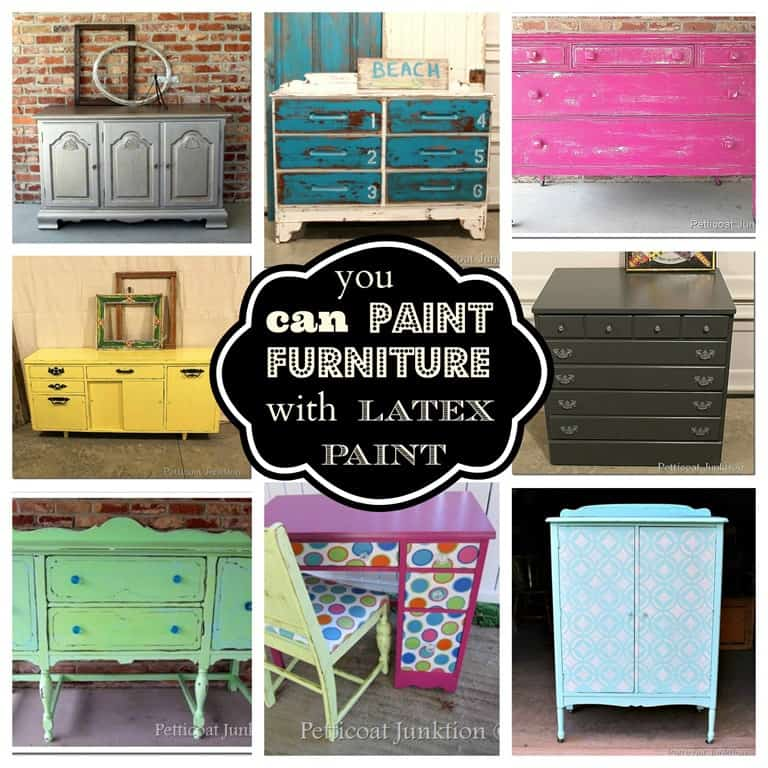 Paint For Furniture latex paint furniture projects roundup with tutorials