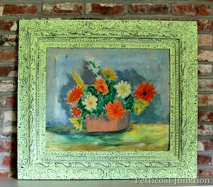 salvaged oil painting Petticoat Junktion