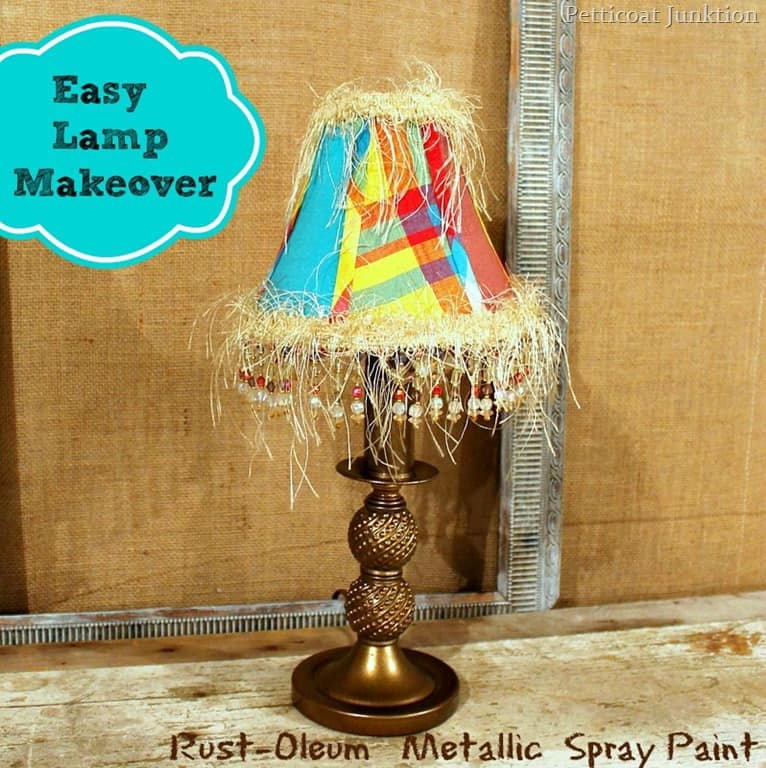 Lamp Makeover With Metallic Bronze Spray Paint Petticoat Junktion