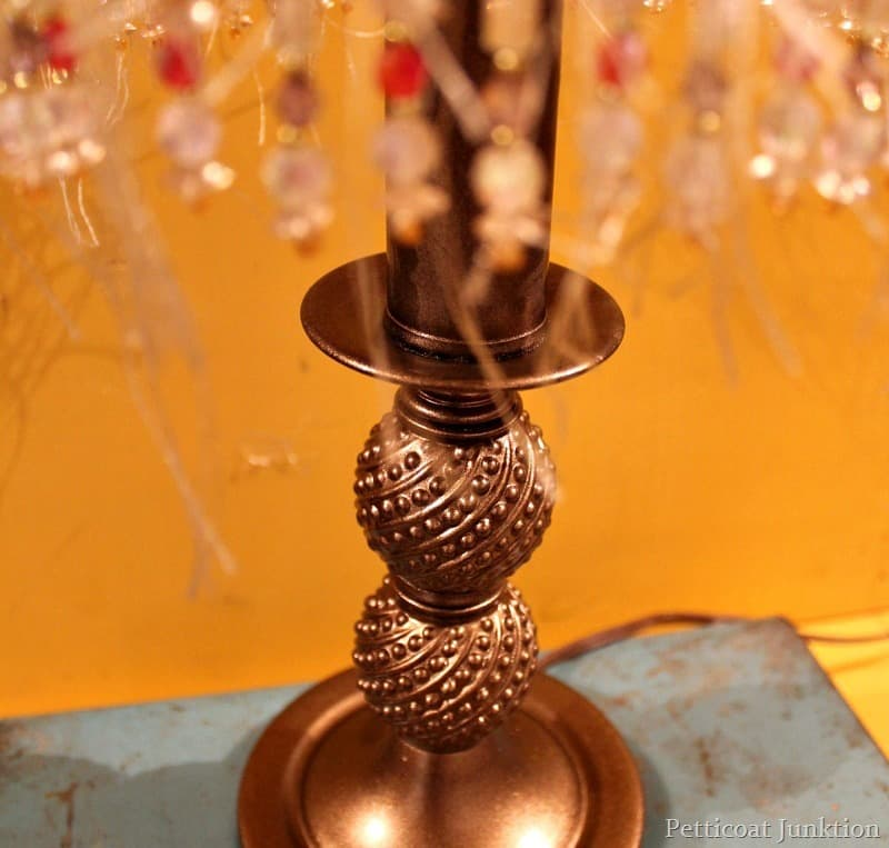 Lamp Makeover With Metallic Bronze Spray Paint Petticoat
