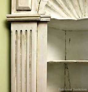 White Antiqued Cabinet
