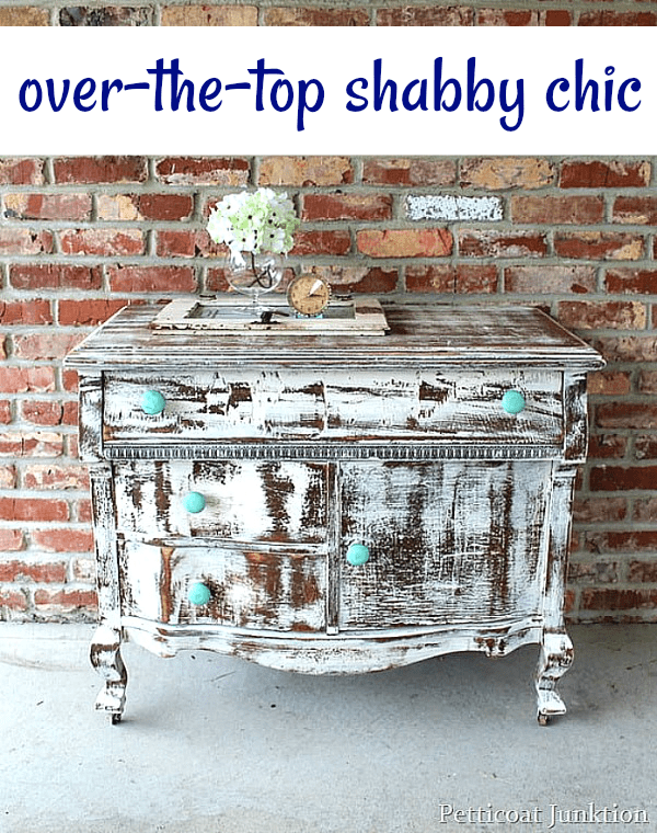 over the top shabby chic furniture makeover