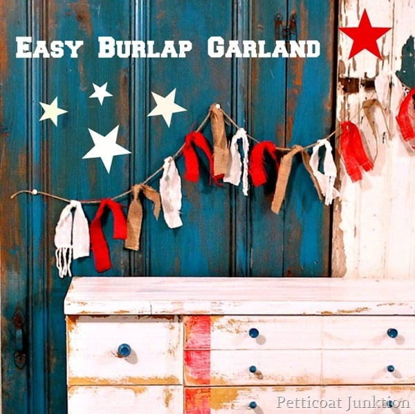 red-burlap-garland-stars