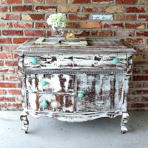 shabby chic heavily distressed dresser