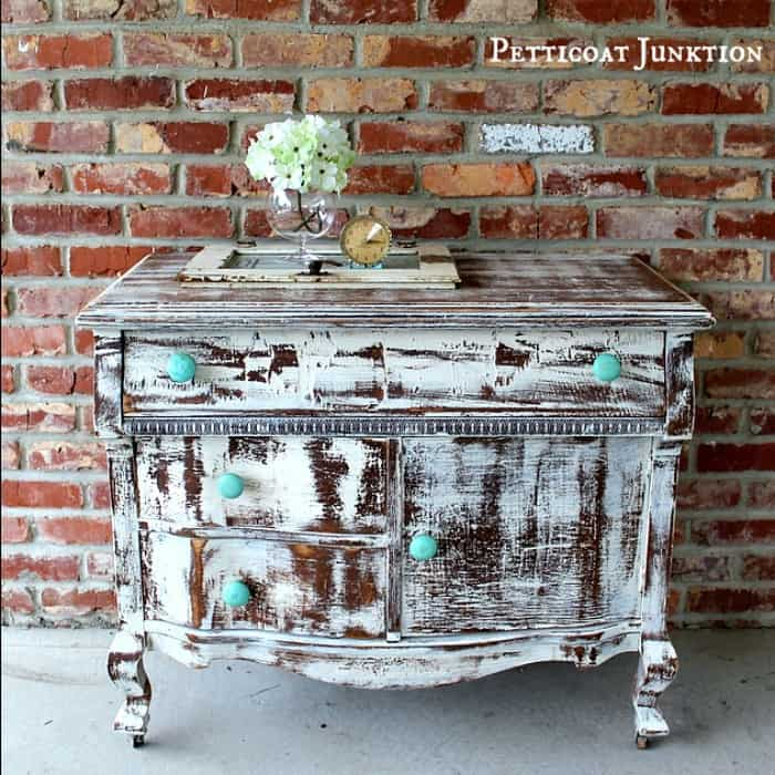 shabby-chic-heavily-distressed-vintage-dresser-with-turquoise-wood-knobs-petticoat-junktion