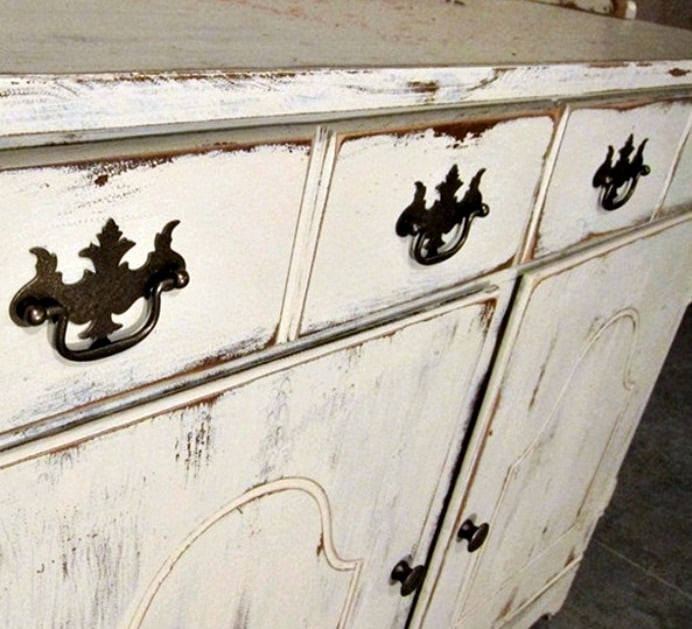 white-distressed-hutch