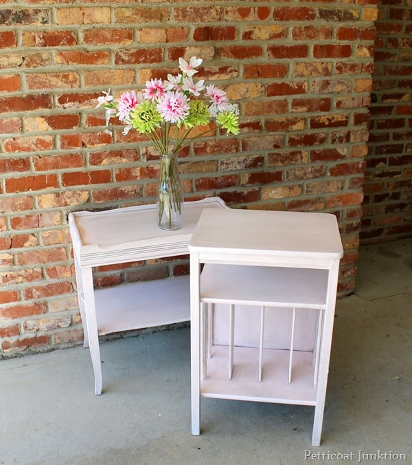 blush paint finish with metallic glaze