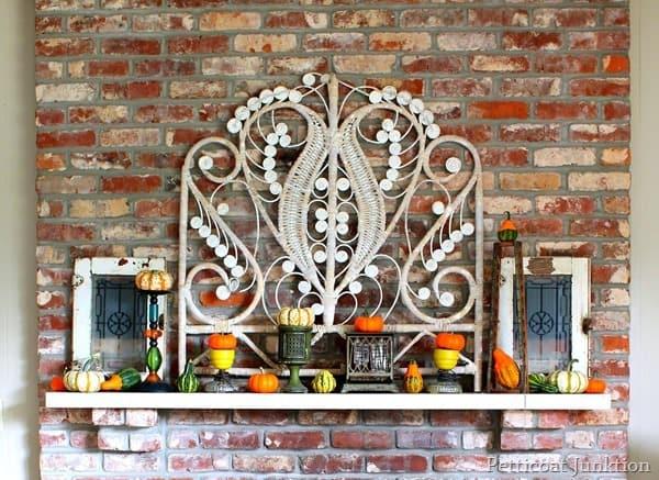 fall mantel display