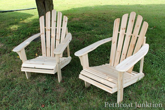 pair of adirondack chairs