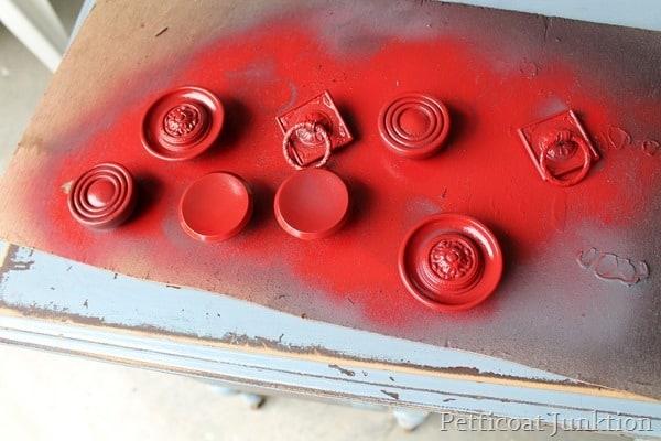 spray painted hardware