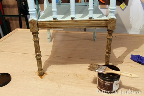 video tutorial how to make painted furniture look old
