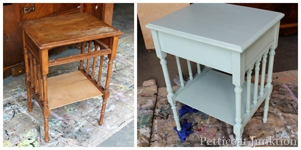 how to antique painted furniture before and after