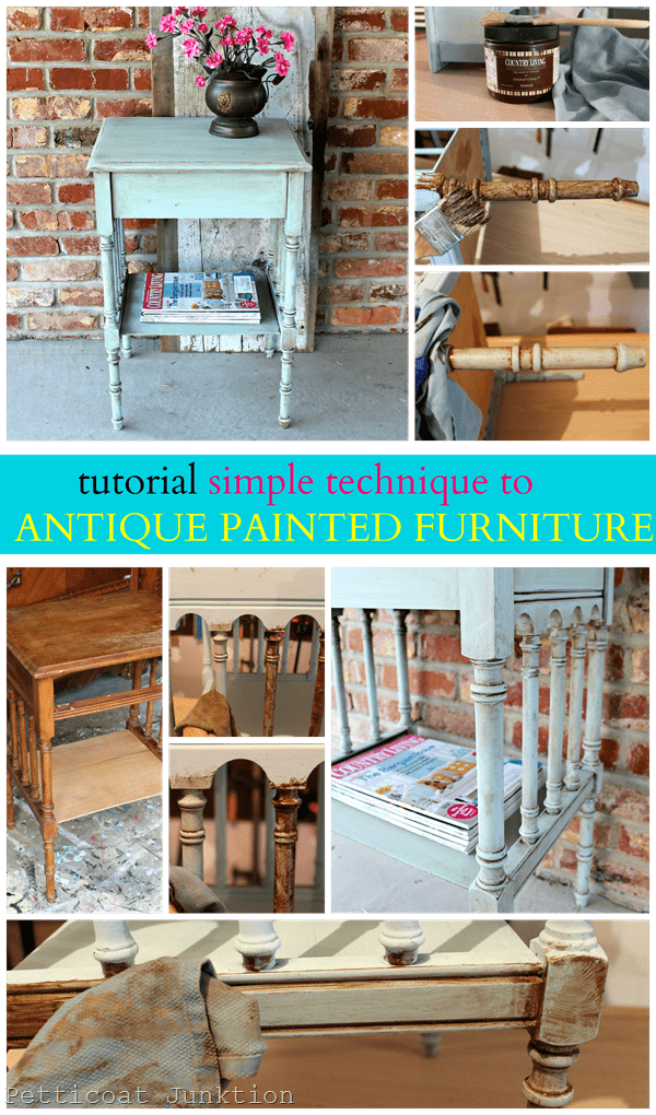 how to antique painted furniture. Black Bedroom Furniture Sets. Home Design Ideas