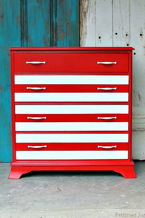How To Paint Furniture Stripes Using Painters Tape