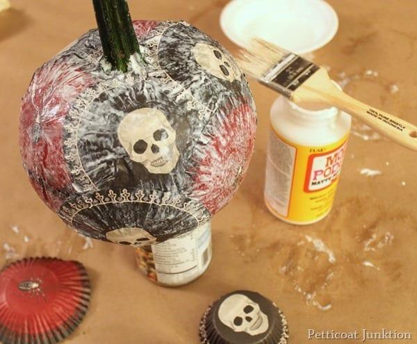 Martha Stewart Crafts Decoupage Pumpkin Project