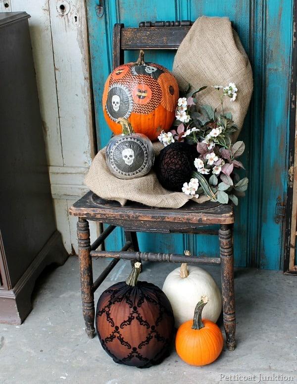 Decoupage Pumpkins\u2013Martha Stewart Crafts , Petticoat Junktion
