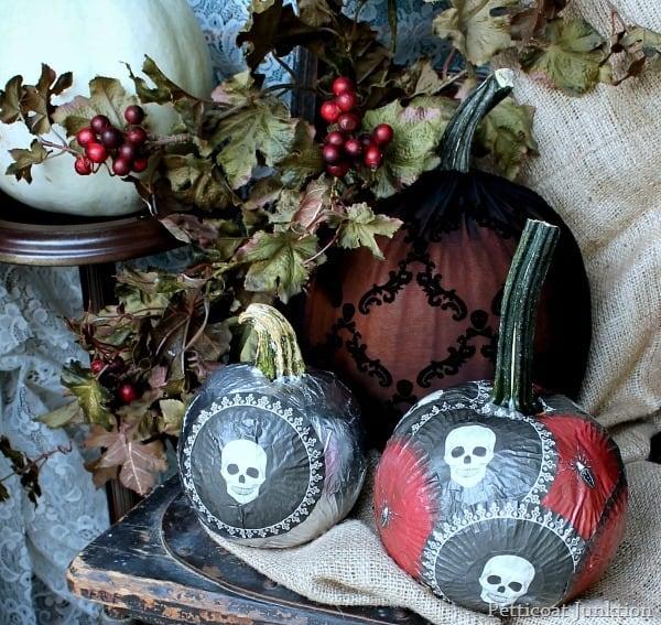 Decoupage Pumpkins Martha Stewart Crafts Petticoat Junktion