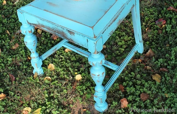 distressed chair turquoise