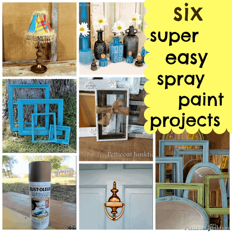 six super easy spray paint projects hardware and home decor petticoat. Black Bedroom Furniture Sets. Home Design Ideas
