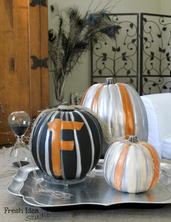 metallic-monogrammed-pumpkins-for-Fall-table