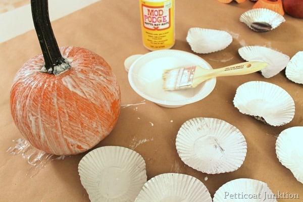 mod podge pumpkin project