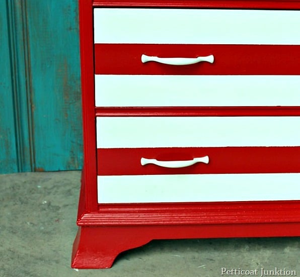 paint stripes on furniture