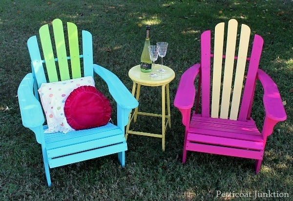 turquoise and fuchsia adirondack chairs petticoat junktion