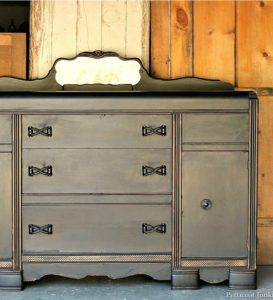 painted and distressed furniture details