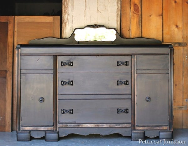 painted black buffet