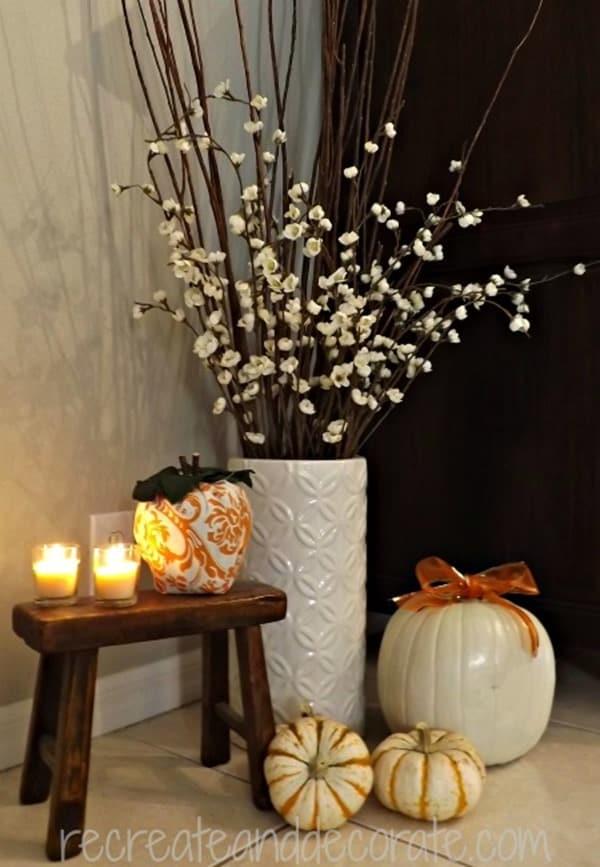 pumpkin decor recreate and decorate